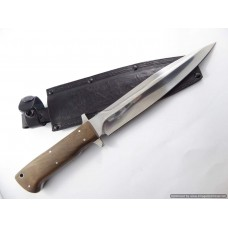 Kizlyar Phoenix-1C Fixed Blade Hunting Knife Polished Blade Pig Sticker