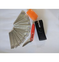 Havalon Piranta Edge + Pouch + 12 Replacement Blades, Skinning Knife