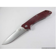 Tassie Tiger Folding Knife, D2 Steel with Red / Black G10 Handle